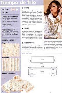 Receitas de Crochet: Blusa inverno branca