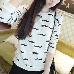 Look at this Moustache Sweatshirt! Cute right?