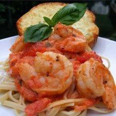 Linguine Pasta with Shrimp and Tomatoes - Allrecipes.com