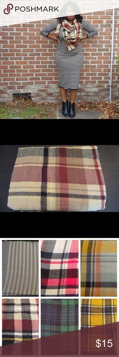 "Warm Me Up, Scotty Blanket Scarf Burgundy & Cream Super warm and cozy, makes a great stocking stuffer! Available in other colors, check out my other listings or refer to pics above and let me know which color you'd like. I can create a listing JUST FOR YOU! 45x45"" Accessories Scarves & Wraps"
