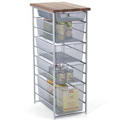 The Container Store > Platinum elfa Mesh Pantry Storage
