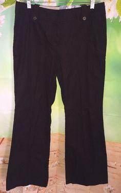 GEORGE ME Designs By MARK EISEN Womens 10P Darkest Brown Flare Pants NWT  | eBay