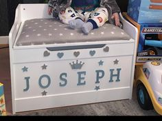 Personalised Toy Box, Toy Boxes, Toy Chest, Storage Chest, Cabinet, Toys, Furniture, Home Decor, Clothes Stand