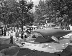 Whale exhibit at the Pittsburgh Zoo, 1960.Pittsburgh City Photographer, Archives Service Center.[University of Pittsburgh Digital Archives]