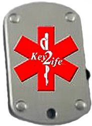 Key2Life USB Medi-Chip Spring Lock Dog Tag Necklace