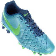 Chuteira Nike Flare FG Campo Azul / Verde