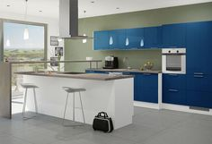 The 10 Best Blaue Kuchen Images On Pinterest Blue Kitchen Island