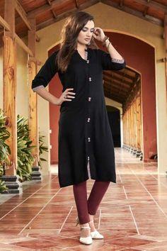 - Wide Rayon Stylish in Black With Dupatta Eid Dresses, Pakistani Dresses, Indian Dresses, Stylish Kurtis, Traditional Dresses, Party Dress, Shirt Dress, Lady, Clothing