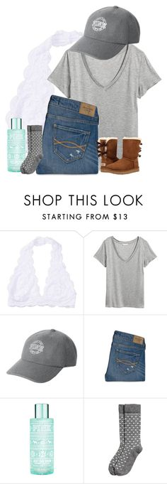 """Untitled #2057"" by laurenatria11 ❤ liked on Polyvore featuring Victoria's Secret, Abercrombie & Fitch, H&M and UGG"