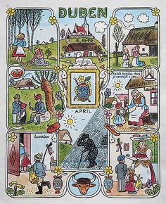 Contemporary Decorative Art, Naive Art, Baby Art, 1940s, Children's Book Illustration, Flower Art, Illustrators, Folk Art, Fairy Tales
