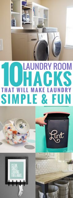 10 laundry room ideas are THE BEST! I'm so glad I found these AMAZING tips! Now I have great ways to keep my laundry room organized and redefined! These are going to make doing laundry so much easier. Pin this for later! Laundry Room Organization, Diy Organization, Organizing Solutions, Organizing Tips, Organising, Laundry Rooms, Diy Home Decor Easy, Laundry Hacks, Room Ideas