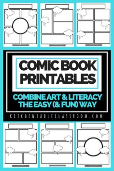 Printables for Creative Writing - Homeschool Giveaways - FREE Comic Book Printables for Creative Writing Comic Book Writing, Free Comic Books, Kids Writing, Teaching Writing, Writing Activities, Creative Writing, Blank Comic Book Pages, Comic Book Paper, Writing Ideas