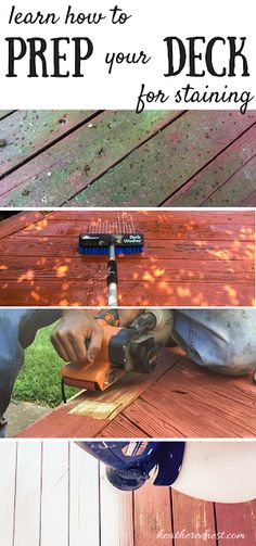 Preparation is the KEY for successfully DIY staining your own deck! Learn how it's done in this tutorial series at Heathered Nest