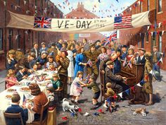 Victory in Europe Day (V-E Day or VE Day) commemorates May 1945 (in Commonwealth countries; May the date when the World War II Allies formally accepted the unconditional surrender of. Norman Rockwell, Purple Heart Day, Victory In Europe Day, Memorial Day Flag, Veterans Home, Painted Books, Puzzle Art, World War Two, Wwii