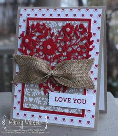 WMW I LOVE YOU! by Wendybell - Cards and Paper Crafts at Splitcoaststampers