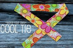 Make Your Own Cool Tie----  These would be great for our girls softball team.  Boy those July tournaments were hot!