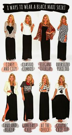 I officially need a black maxi skirt!!Wonder if these would look good with my striped maxi?