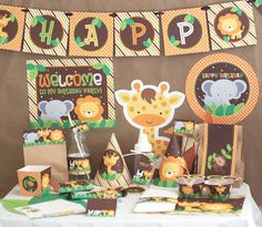 Jungle Safari Birthday Party Decorations  von stockberrystudio