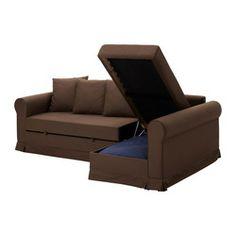 MOHEDA Corner sofa-bed, Blekinge brown - Blekinge brown - IKEA