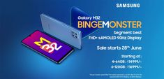 Amazon.in: Check out the latest launched smartphone by Samsung Galaxy M32 Best Mobile Phone, New Mobile, Galaxy Smartphone, Samsung Galaxy, Samsung Mobile, New Launch, Camera Phone, Monster, Galaxies