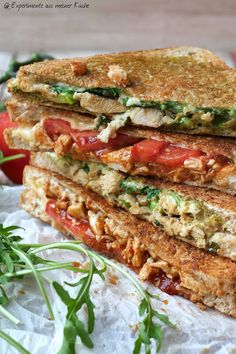 Experimente aus meiner Küche: Chicken Cheese Grilled Sandwich mit Bergader Bergb...