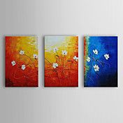 Hand Painted Oil Painting Floral with Stretch... – USD $ 99.99