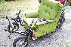 The motorised drinking couch for auction on TradeMe.