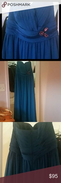 Bari Jay Plus Size Royal Blue Bridesmaid Gown Stunning and Sexy strapless gown purchased at Bari Jay's in the garment district in NTC.  Marked a size 18, but fits more like a 14/16.  Excellent condition, only worn once. Bari Jay Dresses Wedding