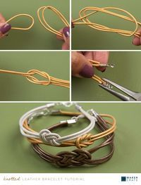 Knotted Leather Bracelet | DIY Jewelry Accessories | Maker Crate