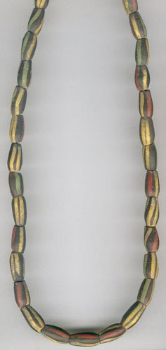 African Trade Beads |  Venetian 1800s Striped Ovals