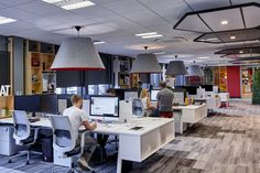 Office workspace ideas Corporate Headquarters Office Tour Office Twelve Headquarters Leicester Pinterest 41 Best Open Plan Offices Images Open Office Office Spaces Offices