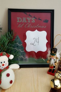 How does your family countdown to Christmas? This simple and affordable DIY Christmas Countdown Dry Erase Board makes counting down fun and exciting!