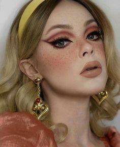 70s Makeup, Retro Makeup, Edgy Makeup, Makeup Eye Looks, Vintage Makeup, Cute Makeup, Skin Makeup, Makeup Art, Makeup Tips