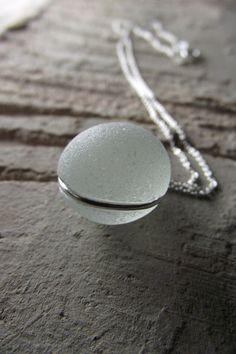 Sea Glass Necklace, so pretty!