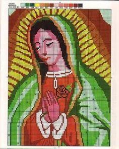 Mis puntadas preferidas: Virgen para bordar en punto de cruz