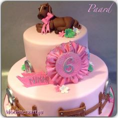A horse cake for a little girl...