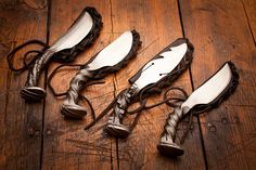 Handcrafted Railroad Spike Knives