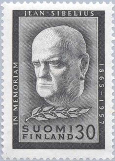 Sibelius, Jean (1865-1957), Composer Classical Music, Postage Stamps, Nostalgia, Composers, Vintage, Postcards, Musicians, Portraits, Paper