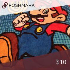 """Super Mario Fleece Throw Blanket Gently used Mario throw blanket Fleece - 33x45"""" Nintendo Other"""