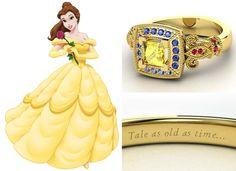 Conheça a coleção de alianças de casamento das princesas da Disney