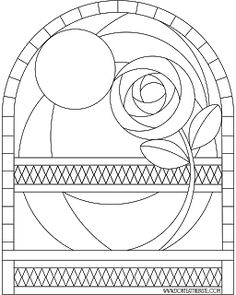 rose at night coloring page that could be basis for sg pattern