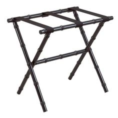 Here's the essential piece your guest room is missing. This bamboo-inspired luggage rack is a perfect (and useful) finishing touch. When guests leave, it can fold up and be tucked away. West Indies Decor, West Indies Style, Luxury Home Decor, Luxury Homes, British Colonial Style, Entertainment Furniture, Gate House, Luggage Rack, Faux Bamboo