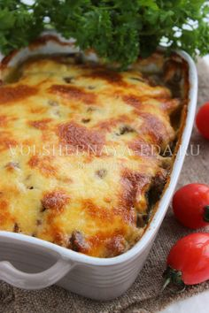 Good Food, Yummy Food, Tasty, Russian Recipes, Food Cravings, Brunch Recipes, Lasagna, Macaroni And Cheese, Food And Drink
