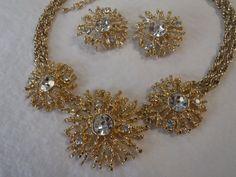 KJL Kenneth Jay Lane for Avon Regal Ritches Goldtone Necklace & Earrings Set #KennethJayLane