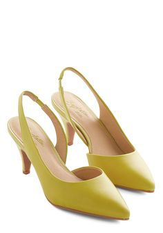54c156c353e Playtime Heel in Lemon. As you slip on these yellow slingbacks from  Seychelles and dash