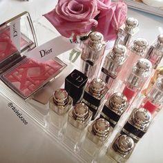Dior Beauty! Credit: rachelxooo #Diorvalley #Dior #FluidStick #Lipstick #Roses #Blushpink #DiorBeauty
