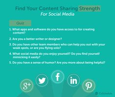 find your content sharing strengths as part of your social media strategy