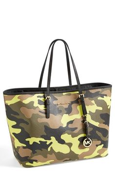 47110cd92a MICHAEL Michael Kors  Medium Jet Set  Travel Tote available at  Nordstrom  Camo Purse