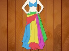 How to Make a Full Belly Dance Skirt - via wikiHow.com