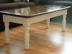 KdBuggie Boutique: Coffee Table Redo - Country Chic Style